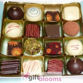 Exquisite 16 Piece Chocolate Truffle Assortment -